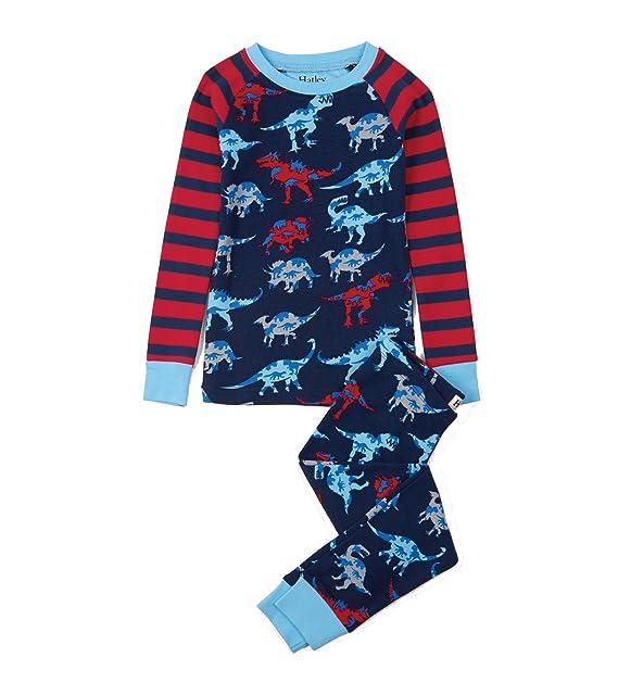 Hatley PJADINO, Pijama para Niño 2 piezas. Algodón Orgánico. Color 422-Marino