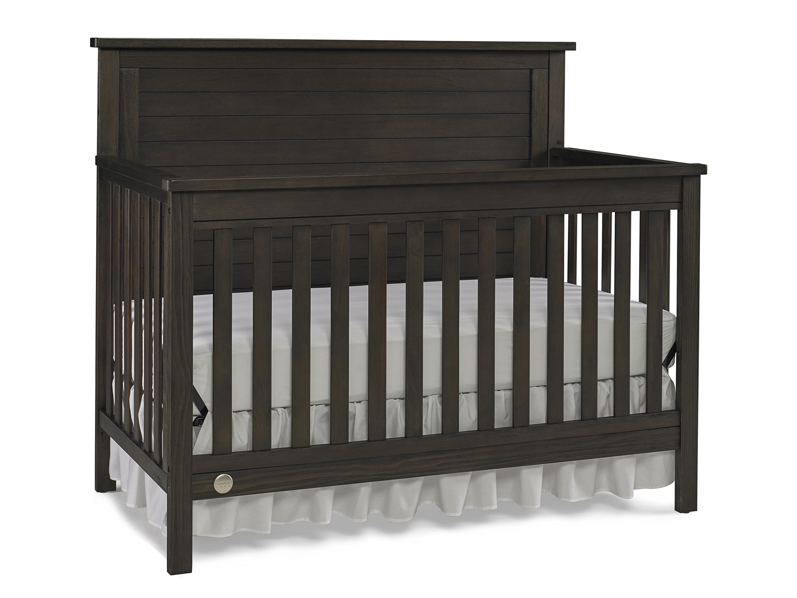 Fisher-Price Quinn 4 in 1 Convertible Crib, Wire Brushed Brown