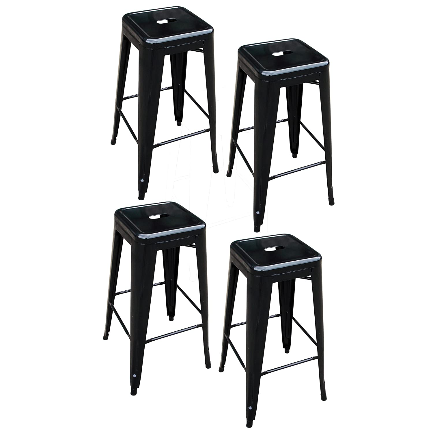Amazon.com AmeriHome Metal Bar Stool Set 30-Inch Black Set of 4 Kitchen u0026 Dining  sc 1 st  Amazon.com & Amazon.com: AmeriHome Metal Bar Stool Set 30-Inch Black Set of ... islam-shia.org