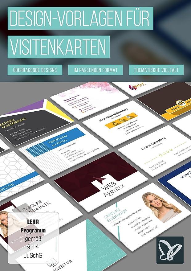 Design Vorlagen Für Visitenkarten Amazon De Software