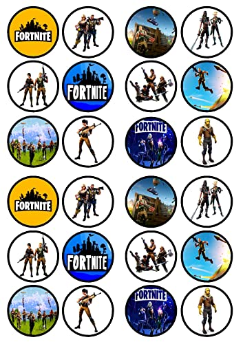 """Fortnite 7.5"""" Round personalised birthday cake topper D3 ..."""