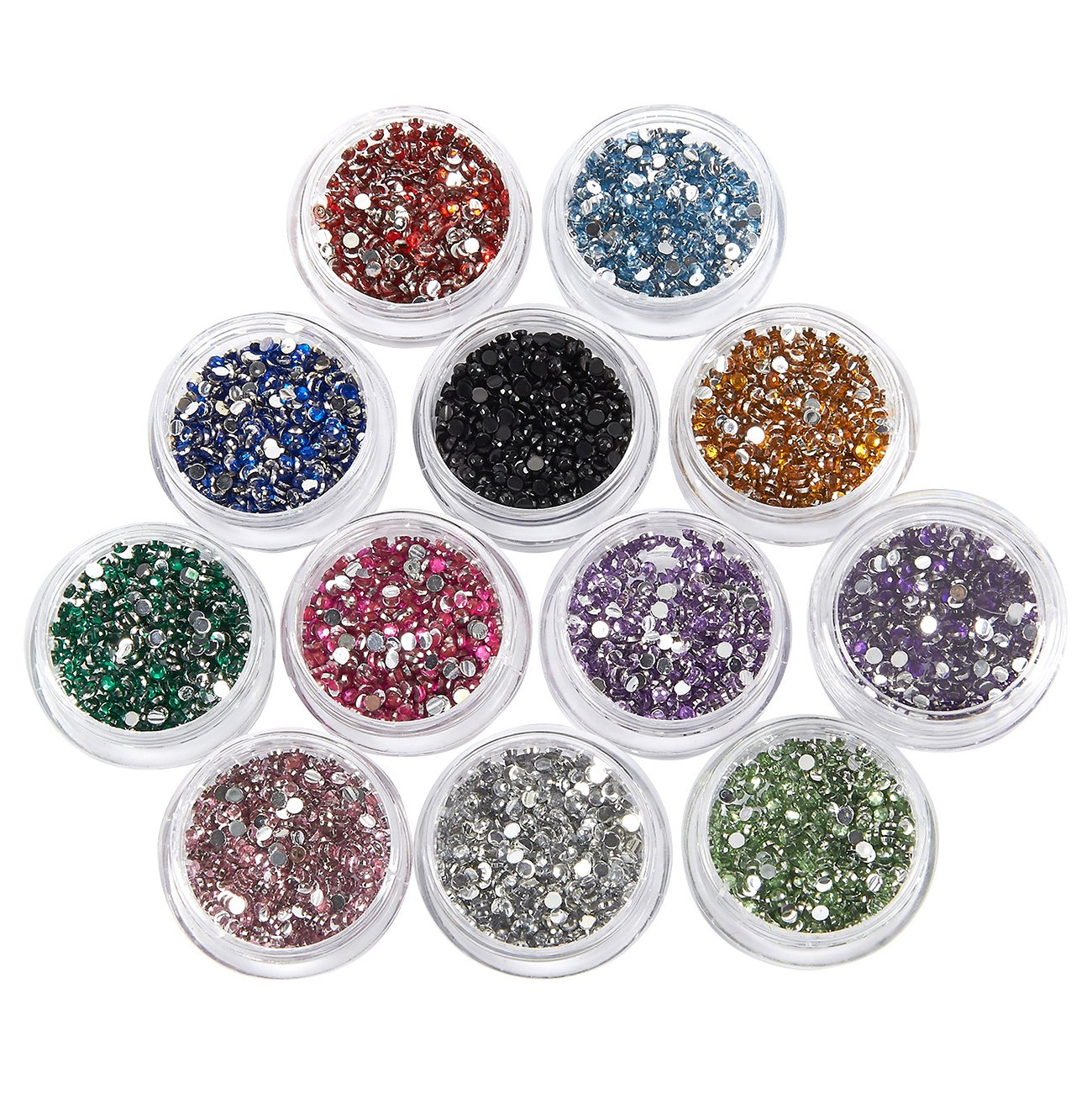f7d88efe6a Nail Rhinestone - 6000 Piece Nail Crystal Gems, Glitter Nail Jewels, Nail  Art Accessories for Decorations, Makeup, DIY, and Crafts, 12 Colors