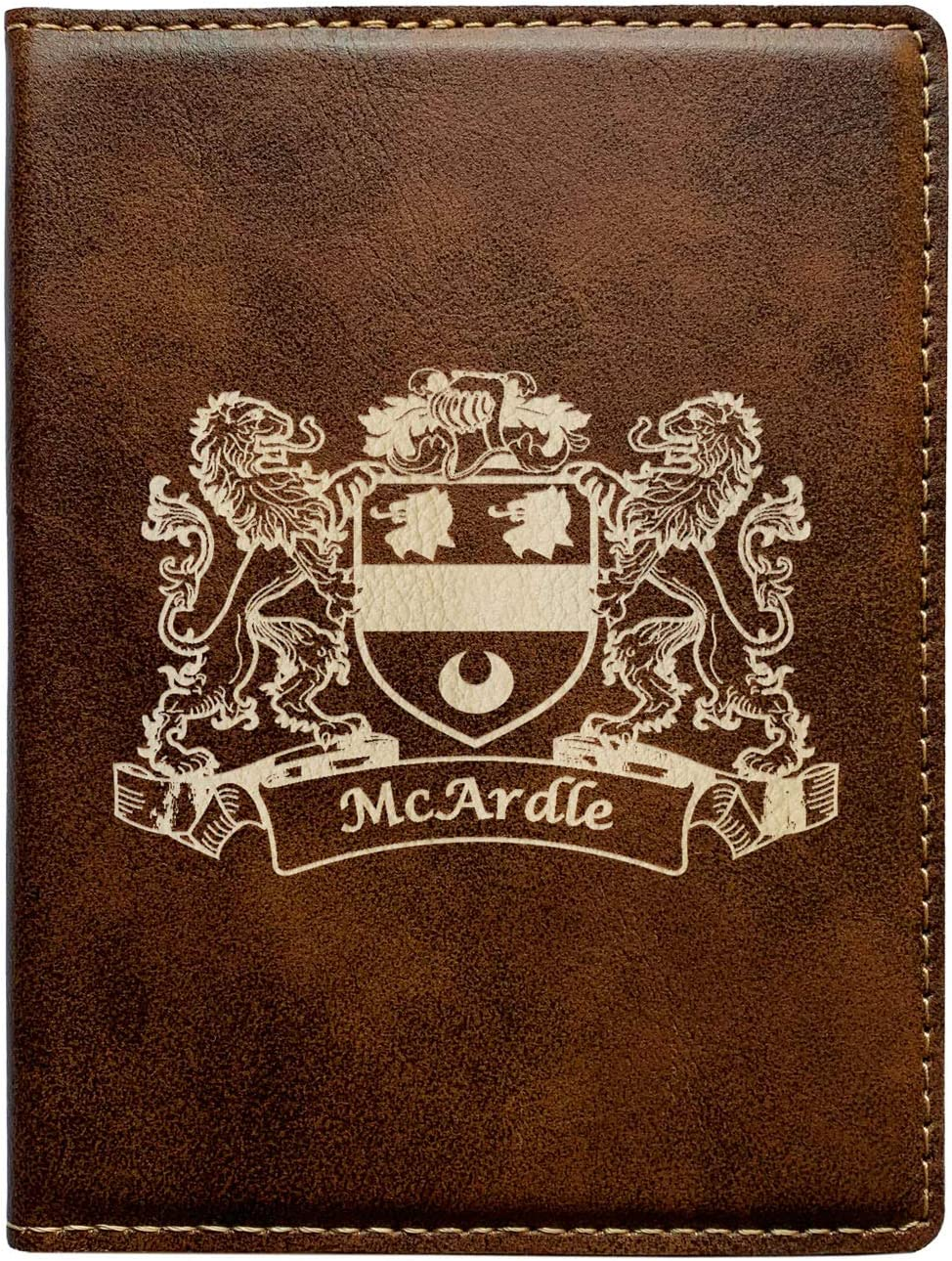 McArdle Irish Coat of Arms Leather Passport Wallet