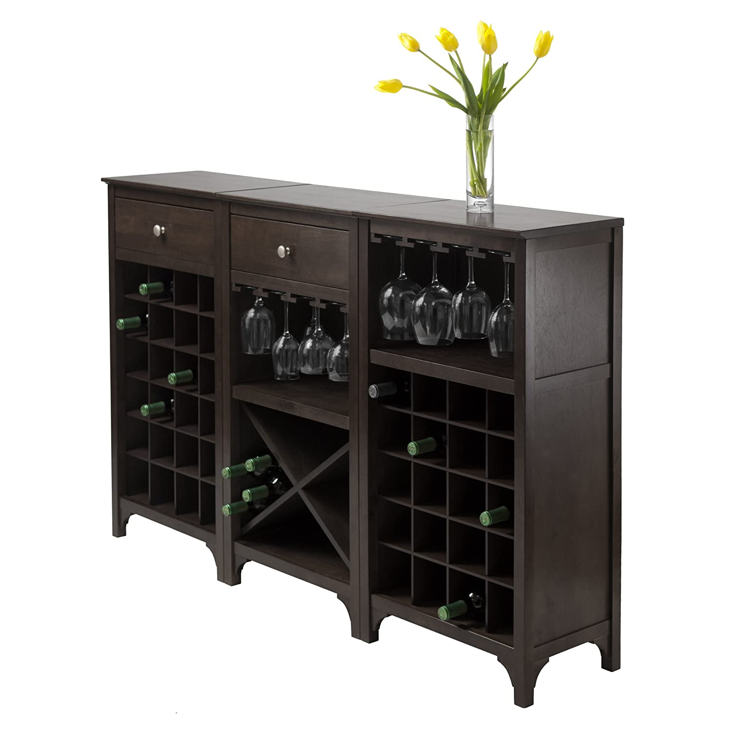 Merveilleux Amazon.com: Winsome Ancona Wine Cabinet With Glass Rack: Kitchen U0026 Dining