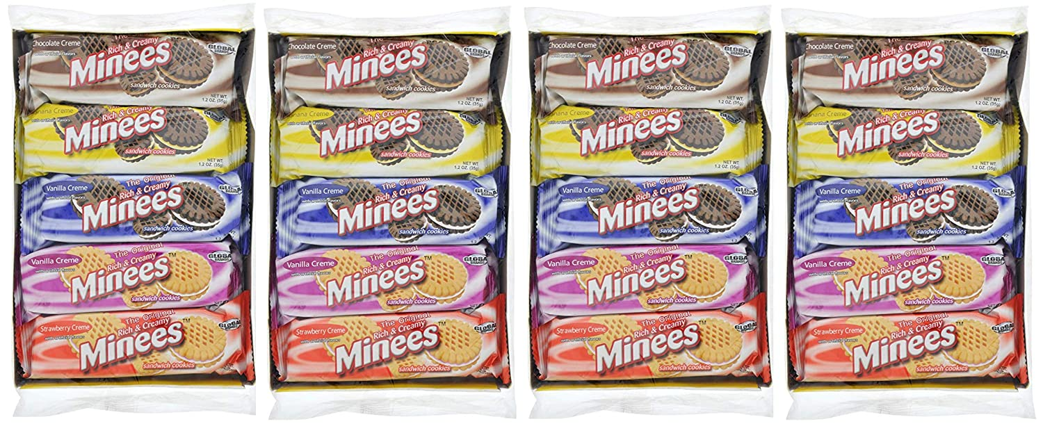 Minees World Famous Rich Creamy Sandwhich Cookies 40 Packs 4 10 Packs Of Cookies Amazon Com Grocery Gourmet Food