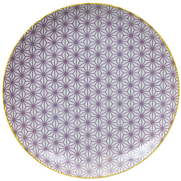 Tokyo Design Studio Starwave Dinner Plate - Star - Purple/Yellow at Amara