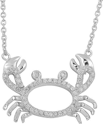 18 inch Kooljewelry Sterling Silver Cubic Zirconia Three Birthstone Heart Pendant Necklace