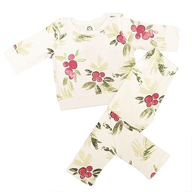 207dda1b7f Amazon.com  The Spunky Stork Organic Cotton Christmas Printed Baby Toddler PJs  Pajamas Set  Clothing