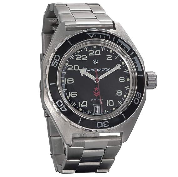 Vostok Komandirskie - Reloj de Pulsera con Esfera Militar Rusa (automático, 24 Horas,