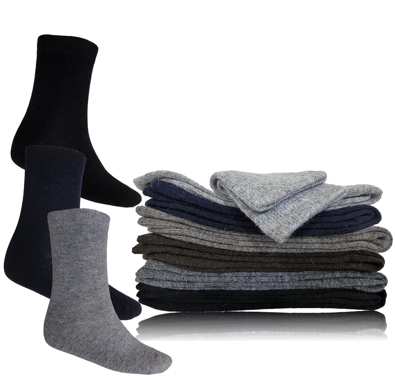 1306b3c60f6b2 Sweetcocooning Lot de 3 paires Chaussettes chaudes pour homme. Angora 50% &  Laine 30% (Ref:UrbanⒸ) (40/46, Marine-Gris-Noir): Amazon.fr: Vêtements et  ...