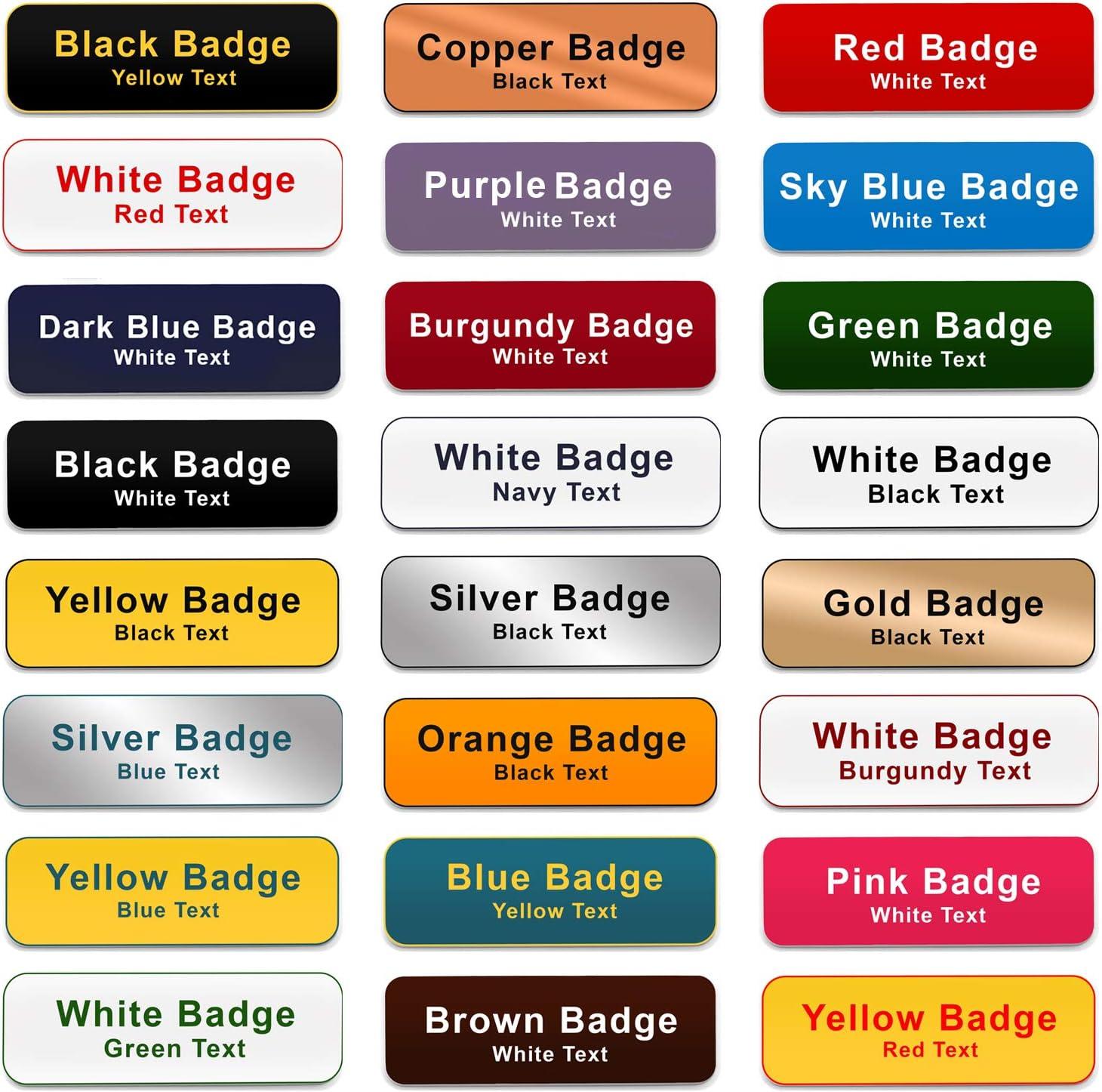 Fonts Magnet Custom Engraved Name Badge Salon Beautician Stylist Hairdresser