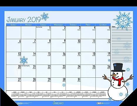 Festive January 2019 Calendar Amazon.: House of Doolittle 2019 Monthly Desk Pad Calendar