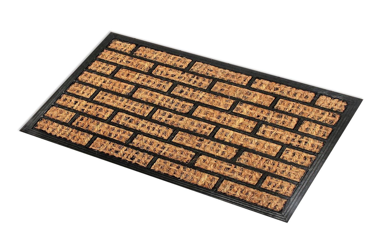 Möbel & Wohnen schwere Qualität Kokos Fußmatte halbrund mit ...