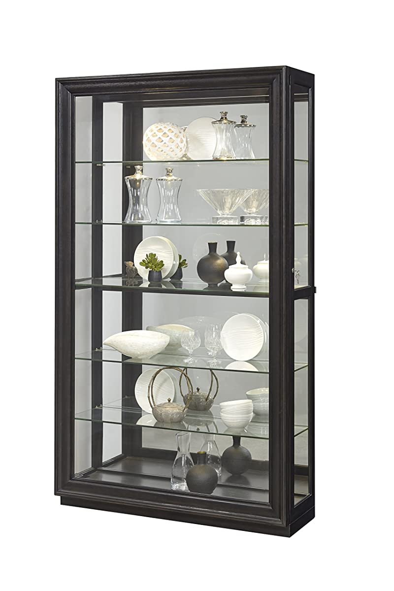"Pulaski P021553 Rockford Mirrored Two Way Sliding Door Curio Cabinet 45.9"" x 14.8"" x 80.0"""