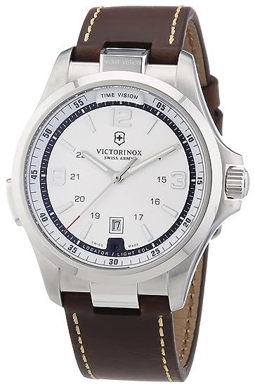 Victorinox Swiss Army 241570 - Reloj analógico de cuarzo para hombre con correa de piel,