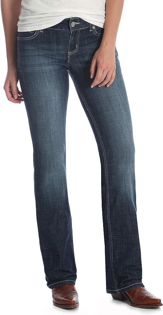 Wrangler Western Mid Rise Pantalon Vaquero Elastico Jeans Para Mujer Amazon Com Mx Ropa Zapatos Y Accesorios