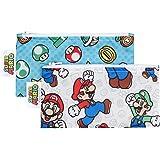 Bumkins Nintendo Reusable Snack Bag Small 2 Pack, Super Mario Set (Mario/Luigi)