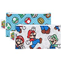 Bumkins Nintendo Super Mario Small Snack Bag, 2 Pack