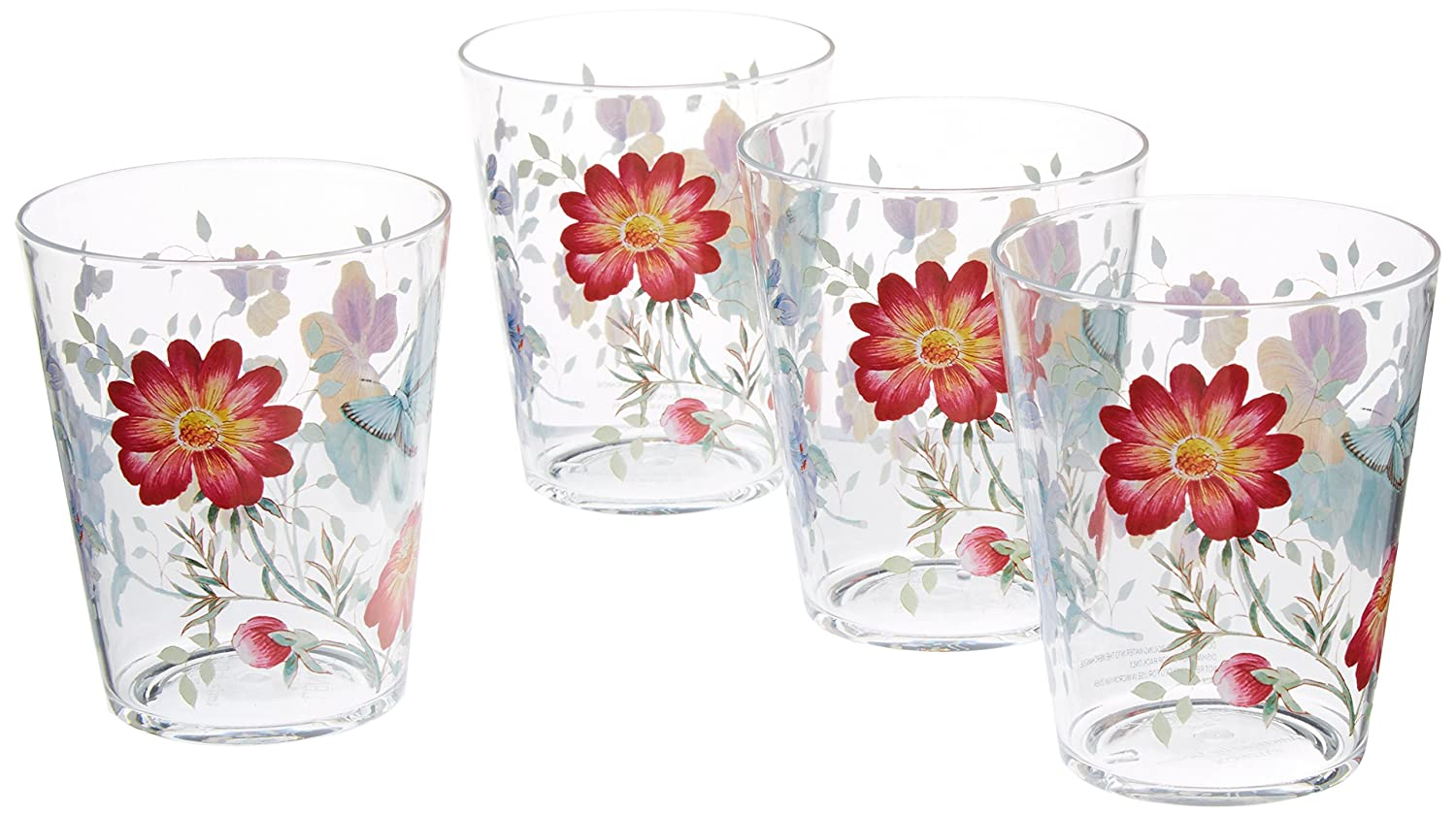 Lenox 866236 Butterfly Meadow Acrylic DOF Glass, Multicolor