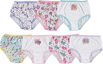 Handcraft Little Girls' My Little Pony Rotating Print Underwear Set (Pack of 7)