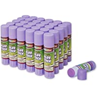 Creativity Street Washable 0.28-Ounce Glue Sticks, 30-Piece Pack, Purple (AC3384-30)