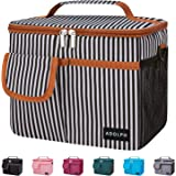 ADOLPH Insulated Leakproof Cooler Lunch Bag for Women Men - Reusable Multi Compartments Lunch Organizer with Adjustable…