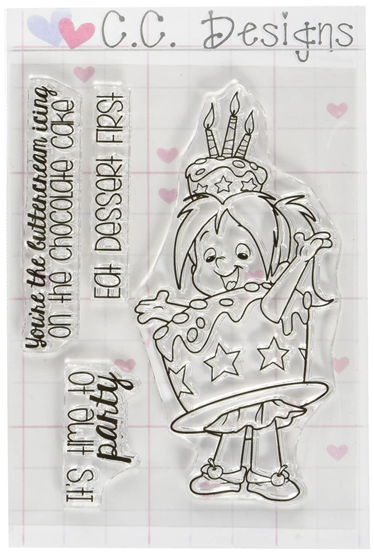 C.C. Designs Roberto \'s Rascals Clear Stamps 4-Zoll x 3Zoll Kuchen Nancy, Acryl, Mehrfarbig RB1115