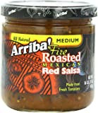 Arriba! Fire Roasted Mexican Medium Red Salsa, 16 Ounce Jars (Pack of 4)