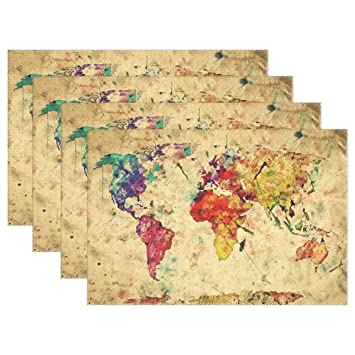 Amazon wozo retro old world map placemat table mat vintage wozo retro old world map placemat table mat vintage map 12quot x 18quot gumiabroncs Image collections
