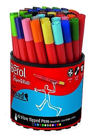 amazon com berol colour broad fibre tipped pen pack of 42