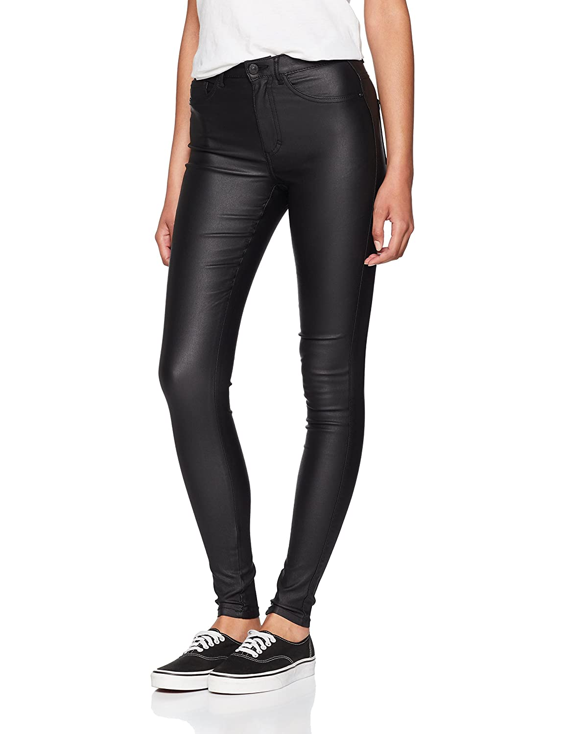 Only Onlroyal HW SK Rock Coated PIM Noos Vaqueros Skinny para Mujer