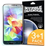 [3+1 Libre/HD CLARIDAD] Invisible Defender - Samsung Galaxy S5 Protector de Pantalla Screen Protector [Lifetime Warranty]**Premium JAPANESE FILM** High Definition (HD) Clarity Film The World's Best Selling Premium EXTREME CLEAR Screen Protector Protector Pantalla para Samsung Galaxy S5 / Galaxy SV / Galaxy S V (2014)