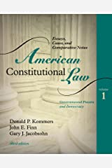 American Constitutional Law: Essays, Cases, and Comparative Notes: 1 Paperback