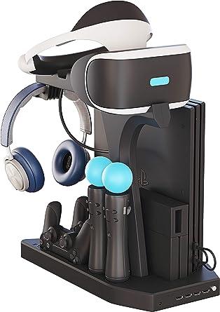 Soporte Vertical para PlayStation - Fisound PSVR Stand, Ventilador ...