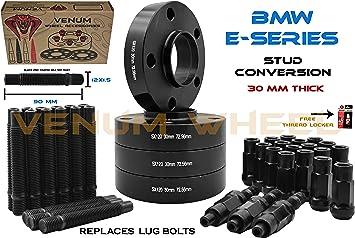 10 pcs Black Lug Bolts Cone 12x1.5 30 mm BMW E36 E46 323 325 328 330 335 M3 M5