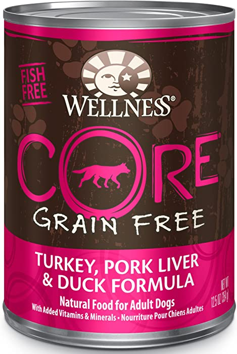 Wellness CORE Natural Wet Grain Free Canned Dog Food, 12.5 Ounce Can (Pack of 12)
