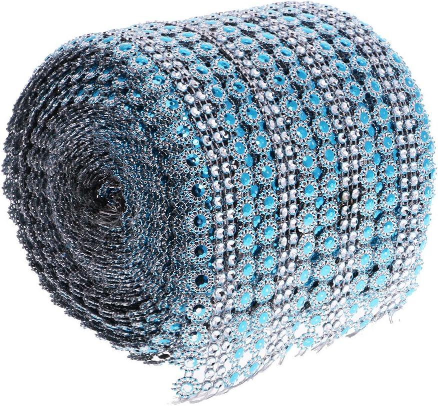 10Yards//9.1m Flower Rhinestone Crystal Chain Beaded Ribbon Trim Sewing Applique Embellishment