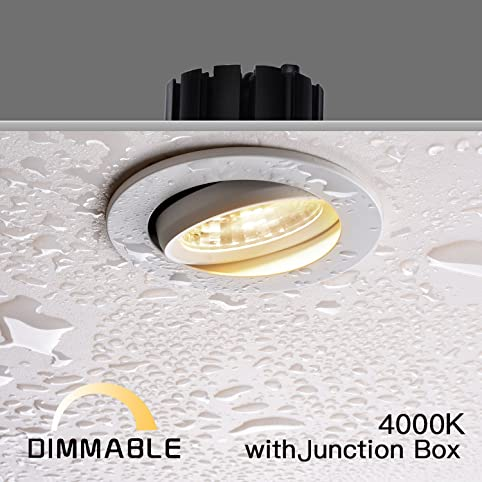 Obsess 3 inch ip54 waterproof shower light led with 8w led cob obsess 3 inch ip54 waterproof shower light led with 8w led cob downlight damp sciox Gallery