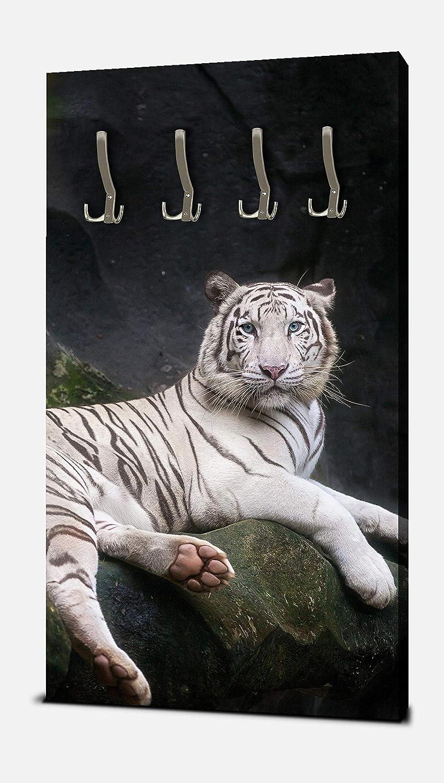 wandmotiv24 Guardarropa Tigre Blanco Sentado en la Cueva ...