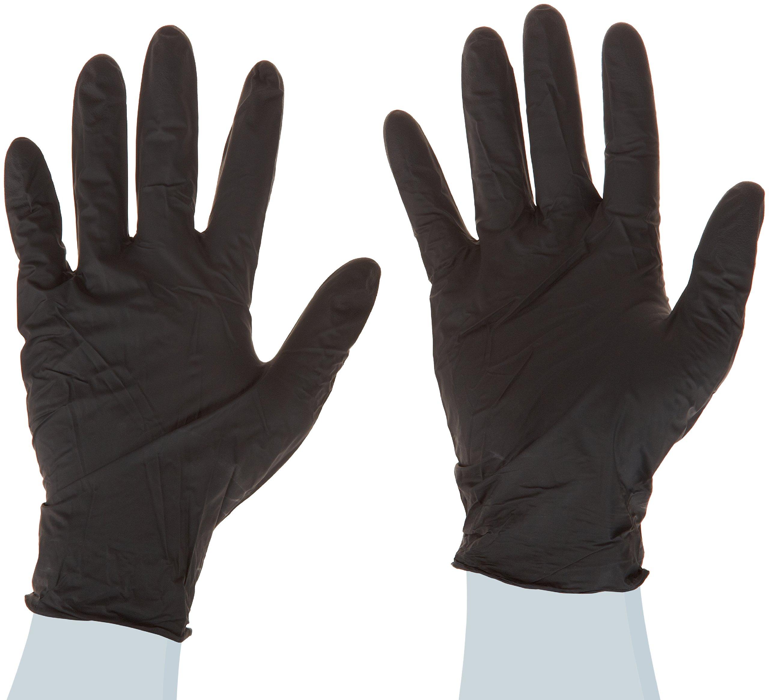 High Five Onyx N643 Series N64 Nitrile Exam Glove, Large (Case of 10)