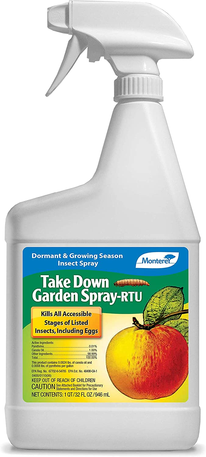Monterey LG6232 Take Down Garden Spray Ready to Use Insecticide/Pesticide Treatment for Control of Insects, 32 oz