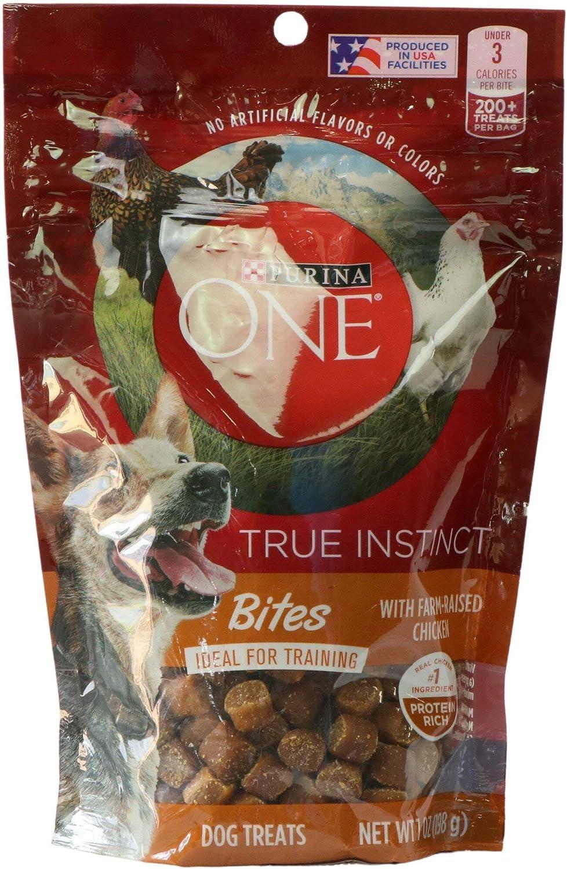 Purina One True Instinct Bites with Farm-Raised Chicken Dog Treats (1-Bag) (NET WT 7 OZ)