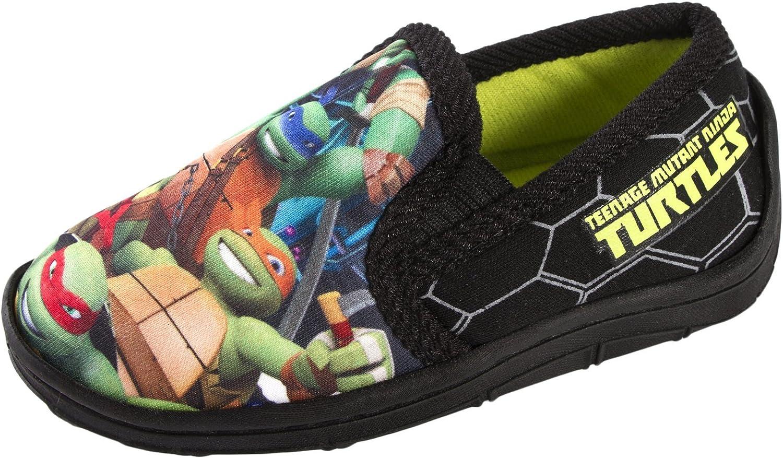Nickelodeon Enfants garçons Teenage Mutant Ninja Turtles Chaussons Mules TMNT Slip onCrochet et Boucle pour Enfants Chaussures Taille UK 6–1