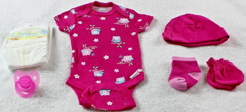 Amazon.com: Reborn muñeca ooak Baby Girl búho Onesie Outfit ...