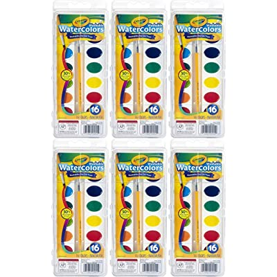 Crayola Crayola Washable Watercolors, 16 Count (Pack of 6) Total 96 Count: Arts, Crafts & Sewing