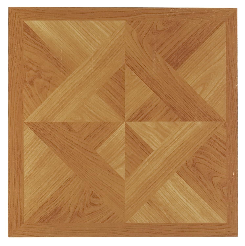 Achim Home Furnishings FTVWD20220 Nexus 12 Inch Vinyl Tile Wood Classic Light Oak Diamond Parquet 20 Pack
