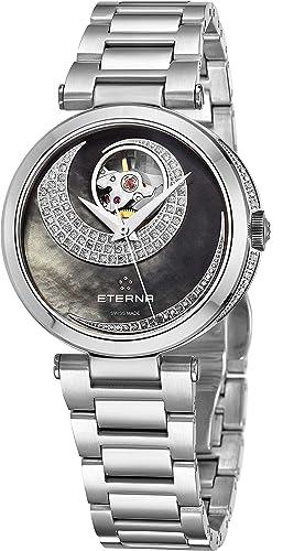 Eterna Grace Open Art Reloj de Mujer Diamante automático 34mm 2943-54-89-1729: Eterna: Amazon.es: Relojes