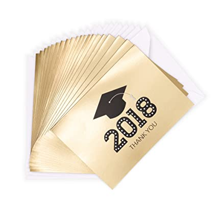 amazon com hallmark graduation thank you notes 20 notecards and 20