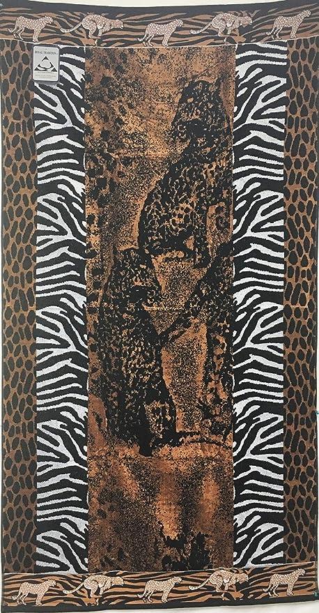 Toallas de playa de gran tamaño bestdeal, leopardo, 100% algodón egipcio