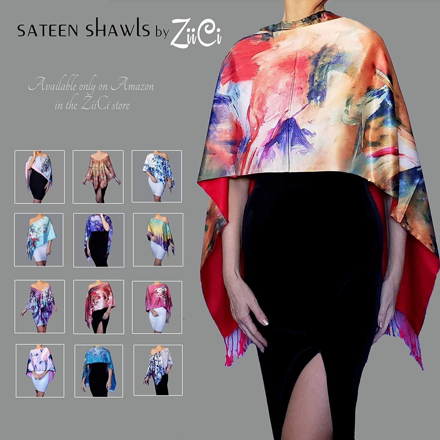 Pink Shawl Blue Wedding Stole Mother Of The Groom Dress Wrap By ZiiCi